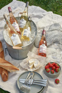 Wein Produktfoto Picknick